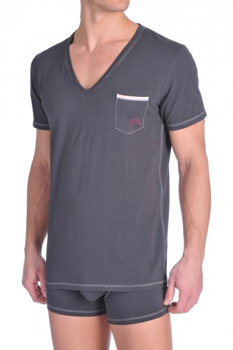 Diesel V-Shirt Jesse Antraciet