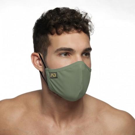 Addicted Shiny Mask Mondmasker - Zwart model schuin voor