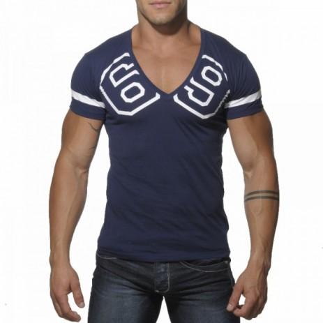 Addicted AD199 69 V-Hals T-Shirt Navy Voorkant