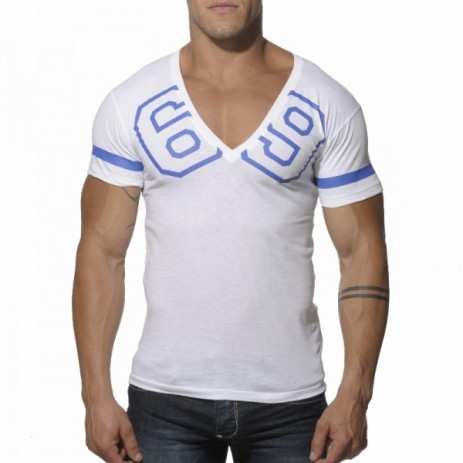 Addicted AD199 69 V-Hals T-Shirt Wit Voorkant