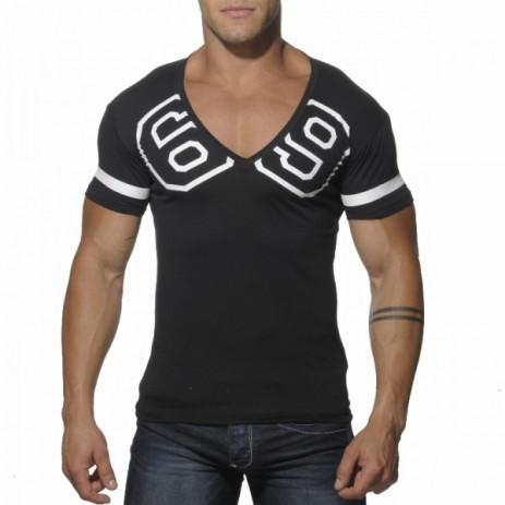 Addicted AD199 69 V-Hals T-Shirt Zwart Voorkant