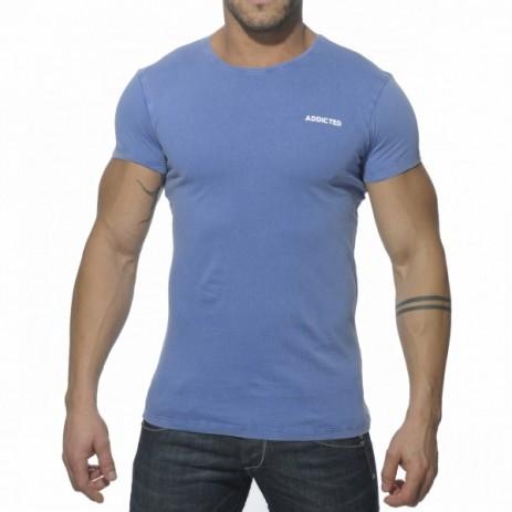 Addicted AD215 Vintage T-Shirt Blauw Voorkant