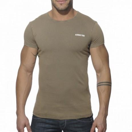 Addicted AD215 Vintage T-Shirt Kaki Voorkant