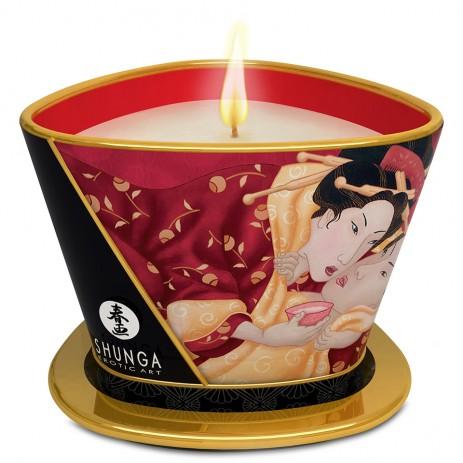 Shunga Massage Kaars Strawberry