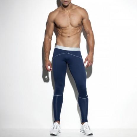ES Collection Tech Metallic Sport Legging - Blauw