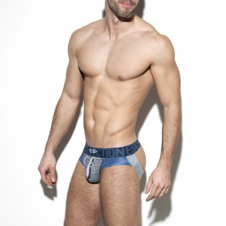 ES Collection Wild Print Jock - Navy
