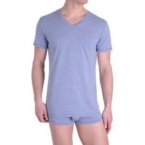 Diesel V-Shirt Michael Grijs Blauw