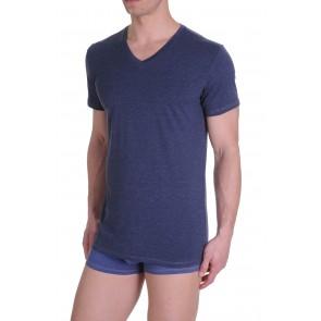 Diesel V-Shirt Michael Donker Blauw