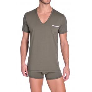 Diesel V-Shirt Jesse Army Green
