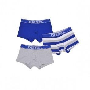 Diesel Shawn Boxer Trunk 3 Pack Grijs Blauw