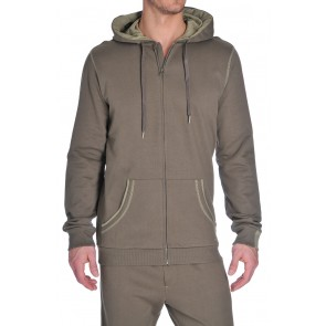 Diesel Brandon Zipper Hoodie Army Green