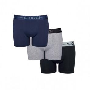Sloggi Men Go Short - 3 Stuks - Blauw Donker Combi