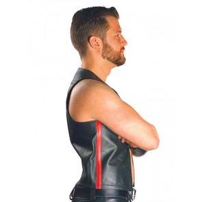 Mister B Muscle Vest Zwart-Rood