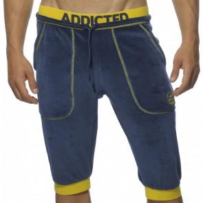 Addicted AD348 Velvet Knee Pants Navy OP=OP!