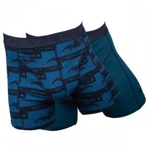 Cavello Blauwe Kever 2 Pack Boxershorts - Blauw / Print