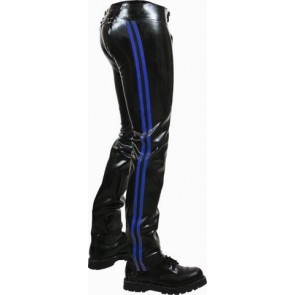 Mister B Rubber Chaps Blue Striped