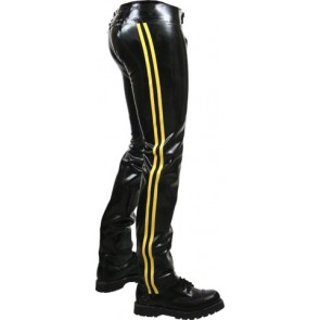 Mister B Rubber Chaps Yellow Striped