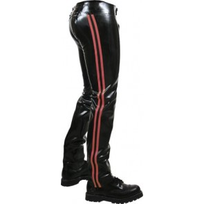 Mister B Rubber Chaps Red Striped