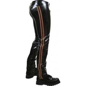 Mister B Rubber Chaps Brown Striped