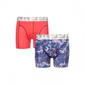Sapph 2-Pack Boxershorts Katoen - Lipstick Red / Flower Print