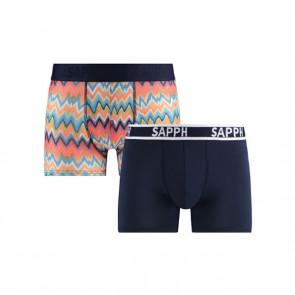 Sapph Josh 2-Pack Micro Boxershorts - ZigZag Print / Navy