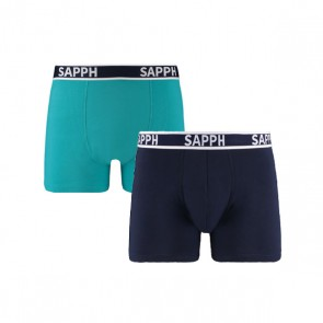 Sapph Ethan 2-Pack Micro Boxershorts - Navy / Mint