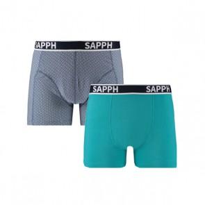 Sapph Jessy 2-Pak Katoenen Boxershorts - Print Geo / Mint