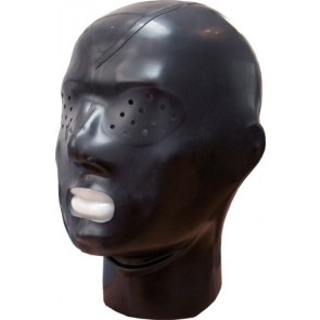 Rubber Masker Met Rits En Kijkgaatjes