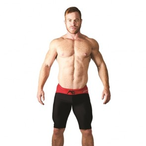Mister B URBAN Mallorca Cycle Short - Black / Red
