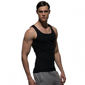 Private Structure Costume Fit Singlet Black