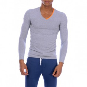 Private Structure V Neck Longsleeve Melange