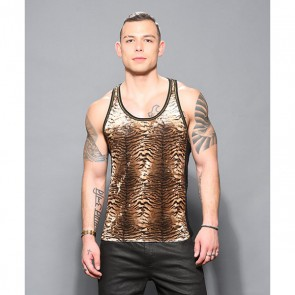Andrew Christian Plush Tiger Net Tank voor