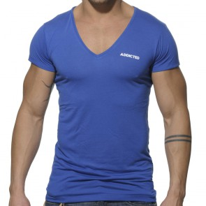 Addicted Basic V-Neck T-Shirt - Royal Blue