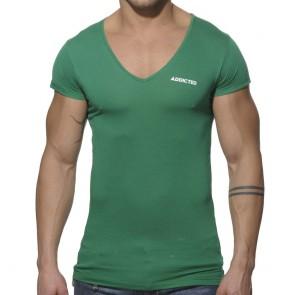 Addicted Basic V-Neck T-Shirt - Groen