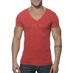 Addicted AD214 Vintage V-Hals T-Shirt Rood