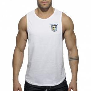 Addicted AD383 Badge Tank Top Wit