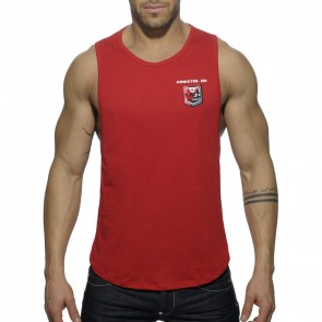 Addicted AD383 Badge Tank Top Rood