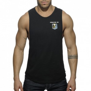 Addicted AD383 Badge Tank Top Zwart