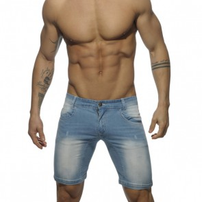 Addicted Mid Length Short - Blue Jeans