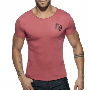 Addicted 09 Round Neck T-Shirt - Garnet
