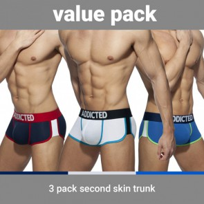 Addicted Second Skin 3 Pack Trunks - 3 Kleuren