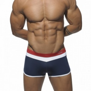 Addicted ADS029 Three Color Boxer Navy Voorkant