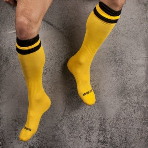Barcode Football Socks Geel Zwart