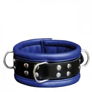 Halsband 6,5 cm blauw - Kiotos Leather