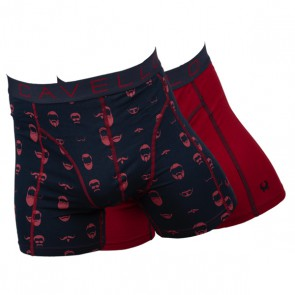 Cavello Harige Mannen 2 Pack Boxershorts - Print / Rood