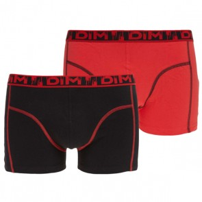 DIM Eco Fashion Boxershort 2 Pack Zwart Rood