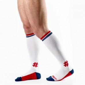 DOiT Dude-Socks 44 cm Wit/Marine/Rood