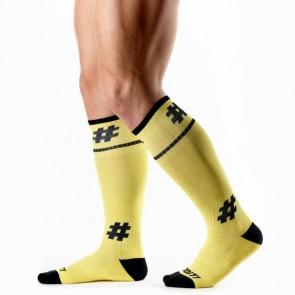DOiT Dude-Socks 44 cm Geel/Zwart