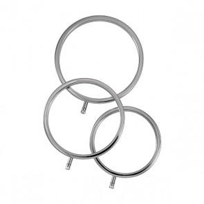 ElectraStim ElectraRings Solid Metal Scrotal Rings (3 pack)