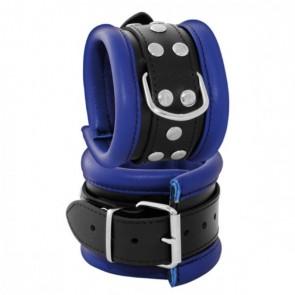 Enkel boeien 6,5 cm blauw - Kiotos Leather